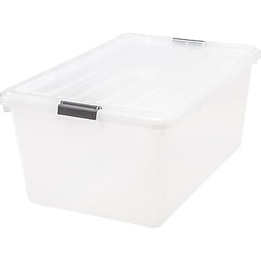 IRIS® 17 GAL Buckle Down Storage Box, 5 Pack (585380)