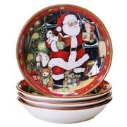 Certified International Santa's Workshop Soup Bowl Set of 4