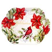 Certified International Botanical Christmas Rectangular Platter