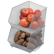 YBM Home Mesh Stacking Bin; Large