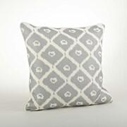 Saro Olympia Printed Ikat Cotton Throw Pillow; Silver
