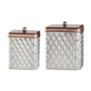 Global Amici 2-Piece Square Diamond Canister Set