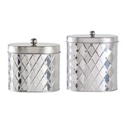 Global Amici Seychelles 2-Piece Oval Diamond Canister Set