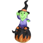 Gemmy Industries Witch On Cauldron Airblown Inflatable Halloween Decoration