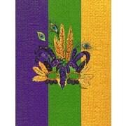 Caroline's Treasures Mardi Gras Mask 2-Sided Garden Flag