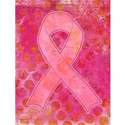 Caroline's Treasures Artsy Breast Cancer Ribbon House Vertical Flag