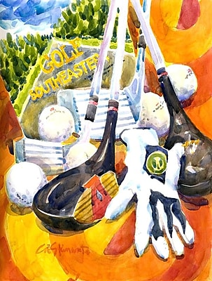 Caroline's Treasures Southeastern Golf Clubs w/ glove and balls 2-Sided Garden Flag WYF078277920682