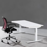 ApexDesk Electric Height Adjustable Sit to Stand Desk; Moonlight White