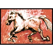 Caroline's Treasures Shadow The Horse Doormat; 2' x 3'