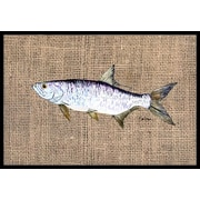 Caroline's Treasures Fish Tarpon Doormat; 1'6'' x 2' 3''