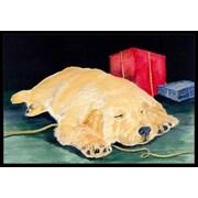 Caroline's Treasures Golden Retriever Doormat; 1'6'' x 2' 3''
