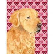 Caroline 39 S Treasures Golden Retriever Hearts Love Valentine 39 S Day 2 Sided Garden Flag Staples