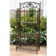 International Caravan Charleston 5-Tier Iron Indoor/Outdoor Bakers Rack; Bronze