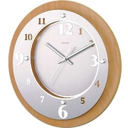 dCOR design Telechron Ivory Solid Wood Modern Wall Clock
