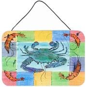 Caroline's Treasures Crab Aluminum Hanging Painting Print Plaque