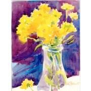 Caroline's Treasures Yellow Flowers in a vase House Vertical Flag