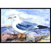 Caroline's Treasures Thayer's Gull Bird Doormat; 1'6'' x 2' 3''