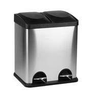 Hopeful Enterprise Double Container 3.96 Gallon Step-On Metal Trash Can