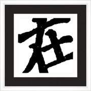Melissa Van Hise Symbols in Black and White VI Framed Graphic Art
