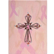 Thompson and Elm Breast Cancer Awareness Cross Painting Print on Canvas