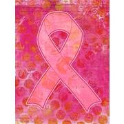 Caroline's Treasures Artsy Breast Cancer Pink Ribbon 2-Sided Garden Flag