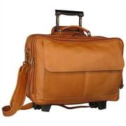 David King Leather Laptop Briefcase; Black
