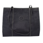 Piel Carry-All Market Shopping Tote; Black