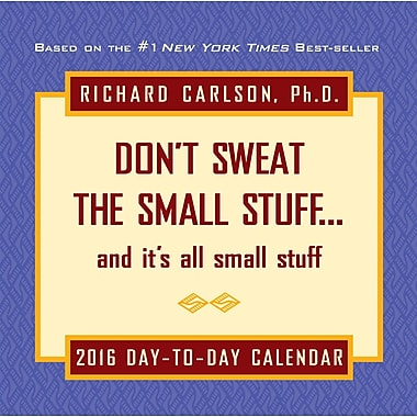 2016 BrownTrout Publishers Day-To-Day Box Calendar, Don't Sweat the Small Stuff, English
