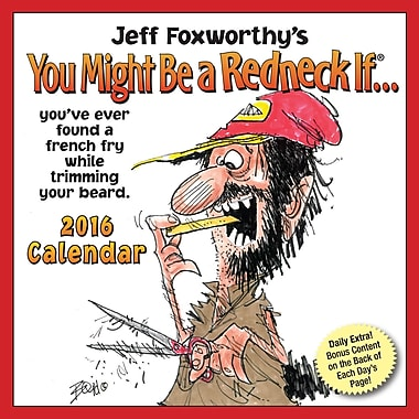 BrownTrout Publishers – Calendrier perpétuel 2016 en boîte, You Might Be A Redneck If, anglais