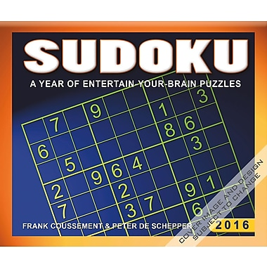 2016 BrownTrout Publishers Day-To-Day Box Calendar, Sudoku, English