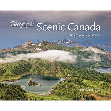 BrownTrout Publishers – Calendrier de bureau 2016, 12 mois, type chevalet, double vue, Scenic Canada, anglais