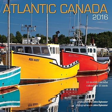 BrownTrout Publishers – Calendrier mural 2016, 12 mois, Canada atlantique, 7 x 7 po, bilingue