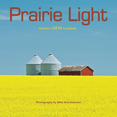 BrownTrout Publishers – Calendrier mural 2016, 12 mois, Prairie Light, 7 x 7 po, anglais