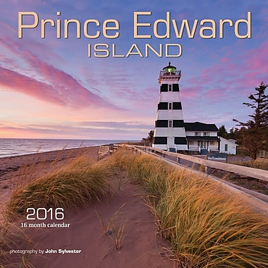 BrownTrout Publishers – Calendrier mural 2016, 12 mois, Prince Edward Island, 7 x 7 po, anglais