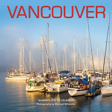 BrownTrout Publishers – Calendrier mural 2016, 12 mois, Vancouver, 7 x 7 po, anglais