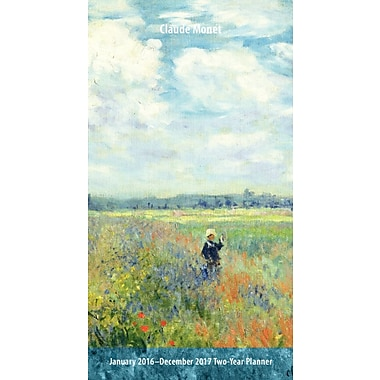 2016 BrownTrout Publishers 2 Year Pocket Planner, Claude Monet, English