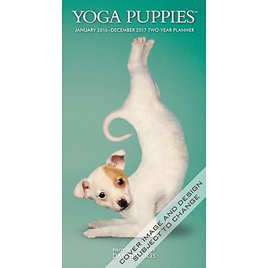 2016 BrownTrout Publishers 2 Year Pocket Planner, Yoga Puppies, English