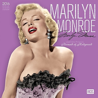 BrownTrout Publishers – Calendrier mural 2016, 12 mois, Marilyn Monroe, 12 x 12 po, anglais
