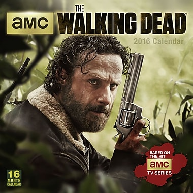 2016 BrownTrout Publishers 12-Month Wall Calendar, The Walking Dead, 12