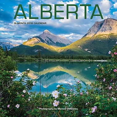 BrownTrout Publishers – Calendrier mural 2016, 12 mois, Alberta, 12 x 12 po, anglais