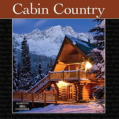 2016 BrownTrout Publishers 12-Month Wall Calendar, Cabins, 12