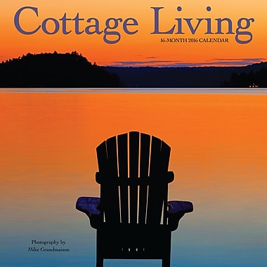2016 BrownTrout Publishers 12-Month Wall Calendar, Cottage Living, 12