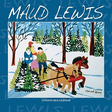 BrownTrout Publishers – Calendrier mural 2016, 12 mois, Maud Lewis, 12 x 12 po, anglais