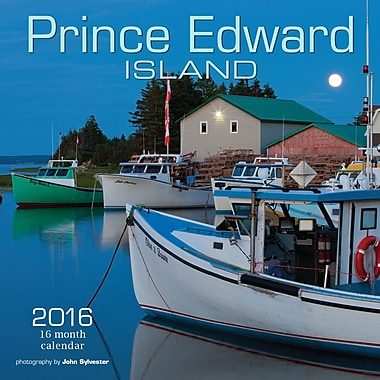 BrownTrout Publishers – Calendrier mural 2016, 12 mois, Prince Edward Island, 12 x 12 po, anglais