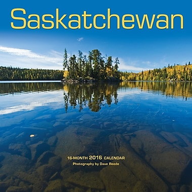 BrownTrout Publishers – Calendrier mural 2016, 12 mois, Saskatchewan, 12 x 12 po, anglais