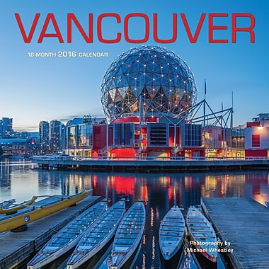 2016 BrownTrout Publishers 12-Month Wall Calendar, Vancouver, 12