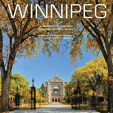 2016 BrownTrout Publishers 12-Month Wall Calendar Winnipeg Square 12