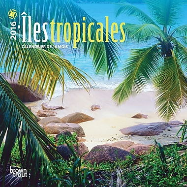 2016 BrownTrout Publishers 12-Month Wall Calendar, lles Tropicales, 7