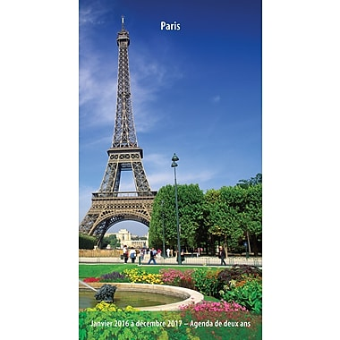 2016 BrownTrout Publishers 2 Year Pocket Planner, Paris, French