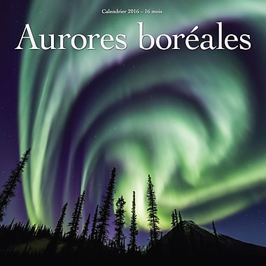 2016 BrownTrout Publishers 12-Month Wall Calendar, Aurores Boreales, 12